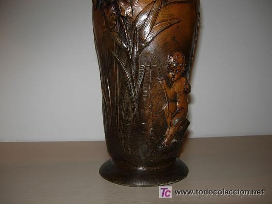 Arte: Jarrón florero modernista-art nouveau. Firmado Elsie Ward Hering - Foto 4 - 15380350